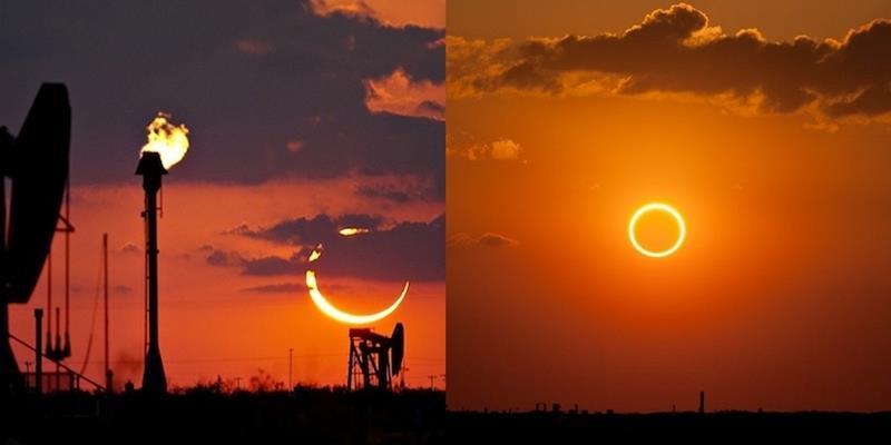 Xuất hiện hiện tượng vòng tròn lửa sáng rực bầu trời