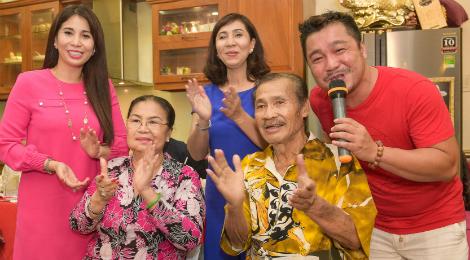 Lý Hùng, Lý Hương tổ chức tiệc mừng thọ NSND Lý Huỳnh