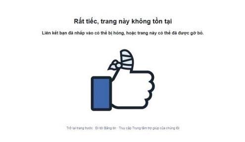Hàng loạt trang Facebook tại Việt Nam bỗng nhiên biến mất
