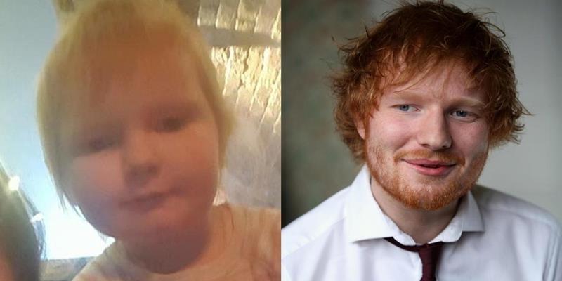 """Bé gái 2 tuổi giống y hệt Ed Sheeran như… """"con gái thất lạc"""""""