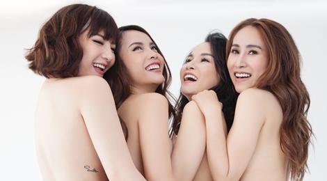 Nhóm Mây Trắng bất ngờ chụp ảnh nude táo bạo