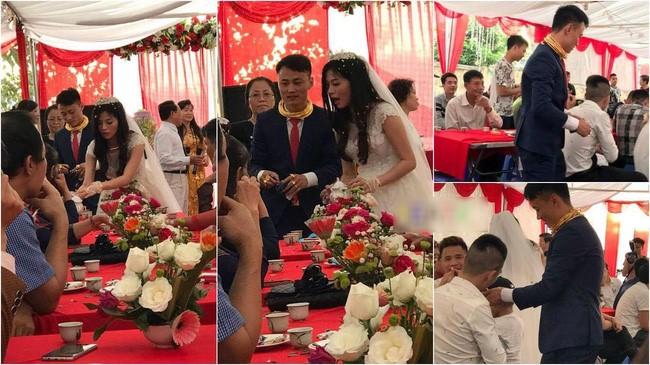 Chú rể Hà Nội đeo kiềng vàng kín cổ trong đám cưới
