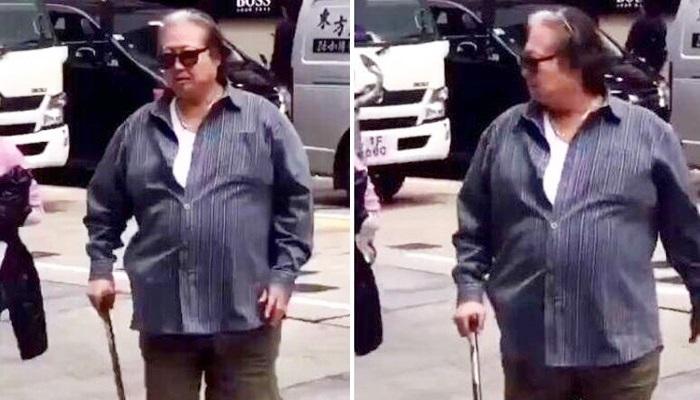 """""""Vua võ thuật"""" Hồng Kim Bảo đã phải chống gậy khi đi trên phố"""