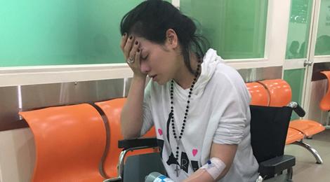 Nhật Kim Anh bị tai nạn xe hơi khi đi diễn ở Bến Tre