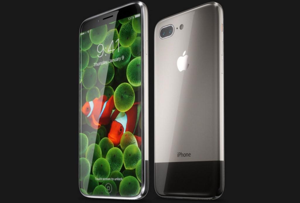 Ý tưởng iPhone 8 hoài cổ, viền siêu mỏng