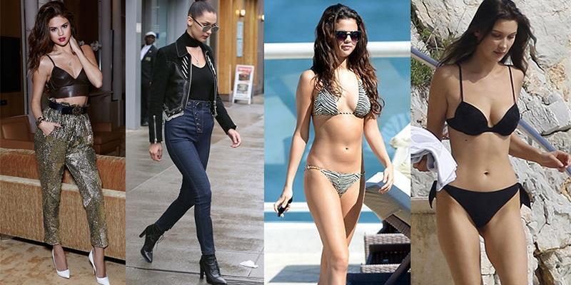 Bella Hadid khoe chân dài miên man, Selena lại bị đem ra so sánh