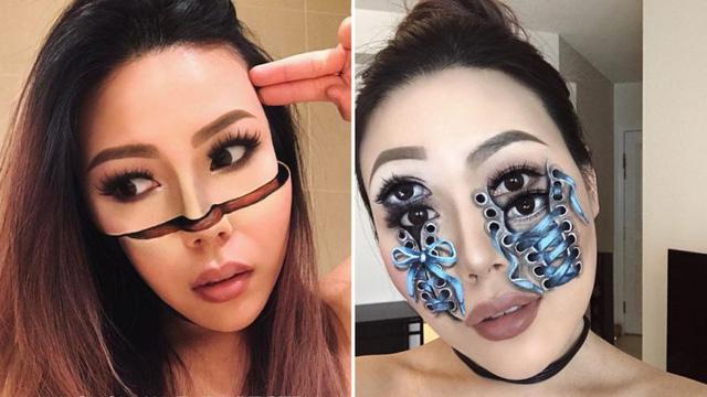 Kiệt tác trang điểm như hiệu ứng kỹ thuật số của cô nàng 31 tuổi