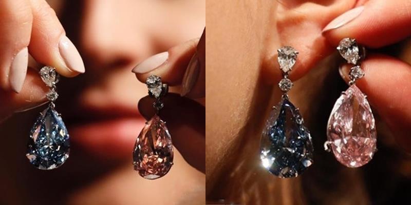 Choáng ngợp với đôi khuyên tai kim cương có giá hơn 1.000 tỉ đồng