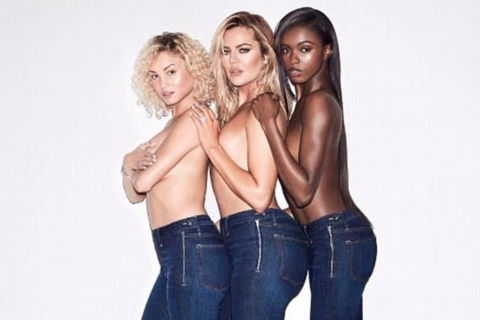 Em gái Kim Kardashian gợi cảm quảng cáo quần jeans