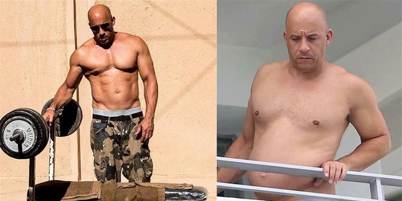 """Ảnh quá khứ béo phệ, lộ bụng mỡ của """"Dom"""" Vin Diesel bị """"đào mộ"""""""