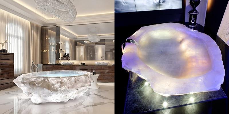 Đến Dubai ngắm bồn tắm triệu đô đầu tiên trên thế giới làm từ đá quý