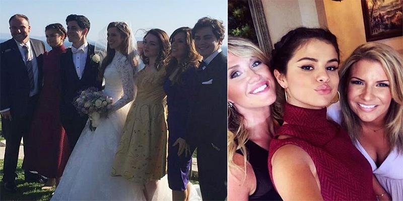 """Selena Gomez diện đầm lộng lẫy dự đám cưới """"người tình tin đồn"""""""
