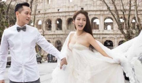 """Sao nữ """"Ỷ thiên đồ long ký"""" tung ảnh cưới lạ với tỷ phú USD"""