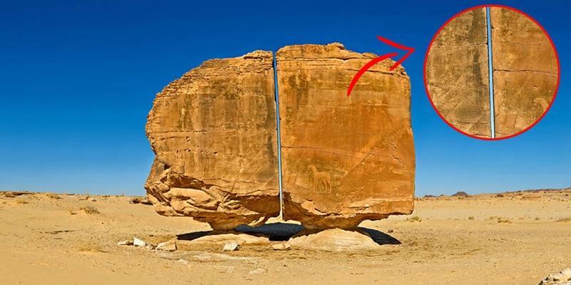 Bí ẩn khối đá chẻ đôi như thể dùng tia laser từ hàng nghìn năm trước