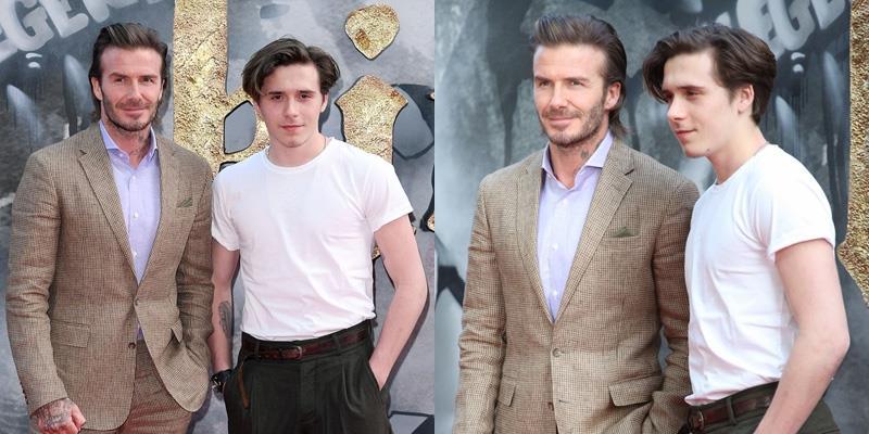 Ở tuổi 42, David Beckham vẫn đẹp át vía con trai hot boy trên thảm đỏ