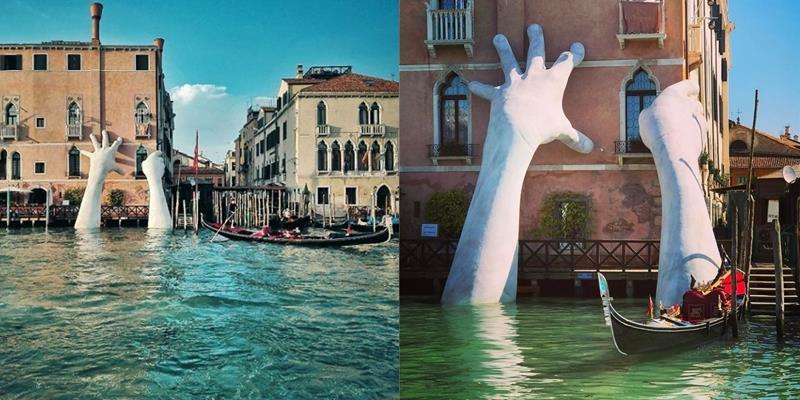 Sự thật về cánh tay khổng lồ thò lên từ lòng sông gây hoang mang