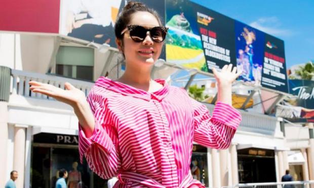 Chân dung Lý Nhã Kỳ xuất hiện trên pano quảng bá Việt Nam ở Cannes