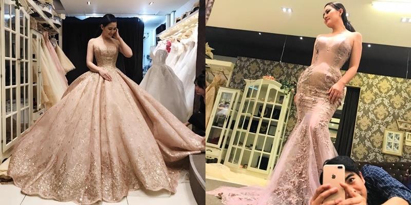 Ngọc Lan đi thử váy cưới cùng Thanh Bình, chuẩn bị lên xe hoa?