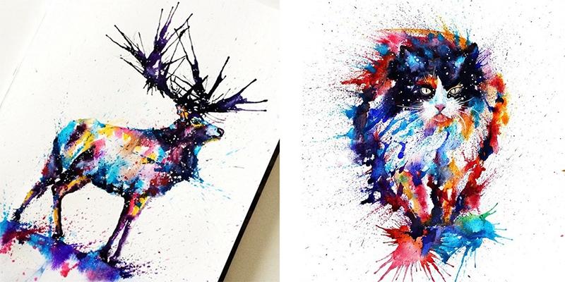 Loạt tranh vẽ đẹp mê hồn chỉ từ những chấm màu nguệch ngoạc