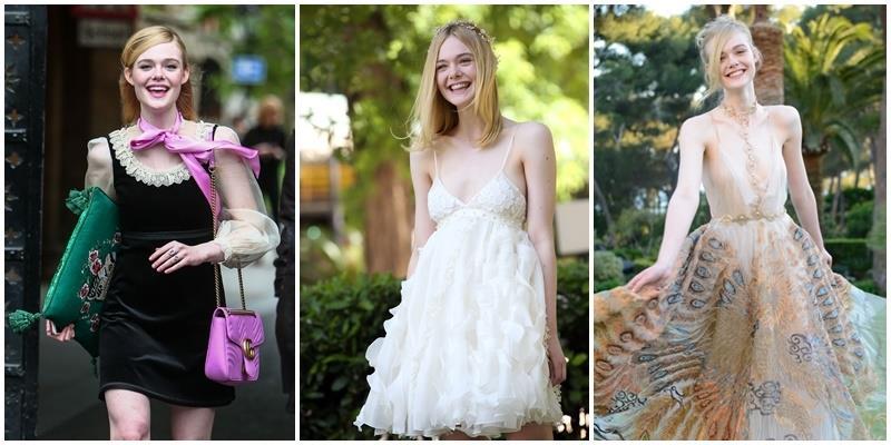 Không chỉ ở Cannes, tiên nữ Elle Fanning đi thảm đỏ ở đâu cũng đẹp