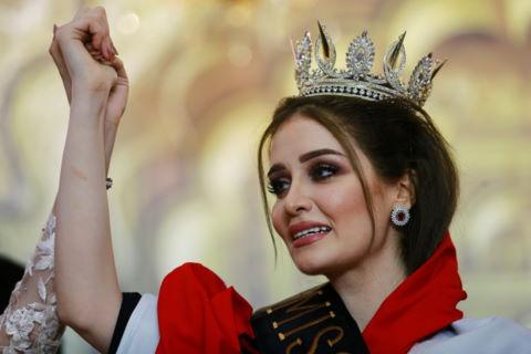 Người đẹp 23 tuổi đăng quang Hoa hậu Iraq 2017 trong nước mắt