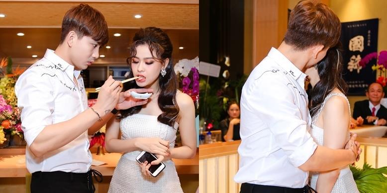 Tim chăm sóc, ôm hôn Trương Quỳnh Anh sau tin đồn ly hôn