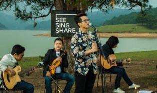 """Hà Anh Tuấn lên Đà Lạt thực hiện """"See, sing and share"""""""