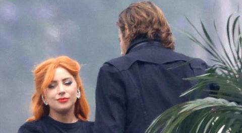 Lady Gaga lạ lẫm với màu tóc cam trong phim mới