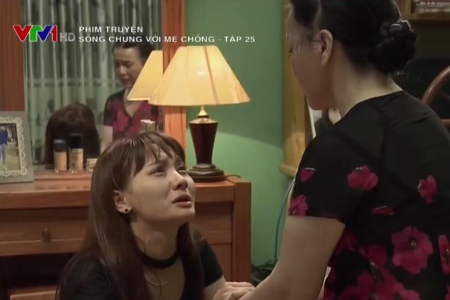 """""""Sống chung với mẹ chồng"""" tập 25: Vân quỳ gối xin được ly hôn"""
