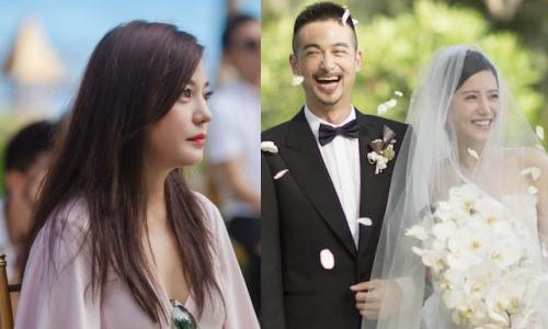 """Triệu Vy nổi bật khi dự lễ cưới sao nữ """"Anh có thích nước Mỹ không"""""""