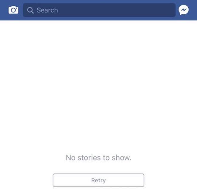 """Trang News Feed của Facebook bị """"đơ"""" trên toàn cầu"""
