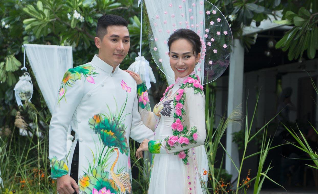 Cặp đôi Nam Phong - Kim Duyên thêm rạng ngời với Áo dài cưới Tommy Nguyễn