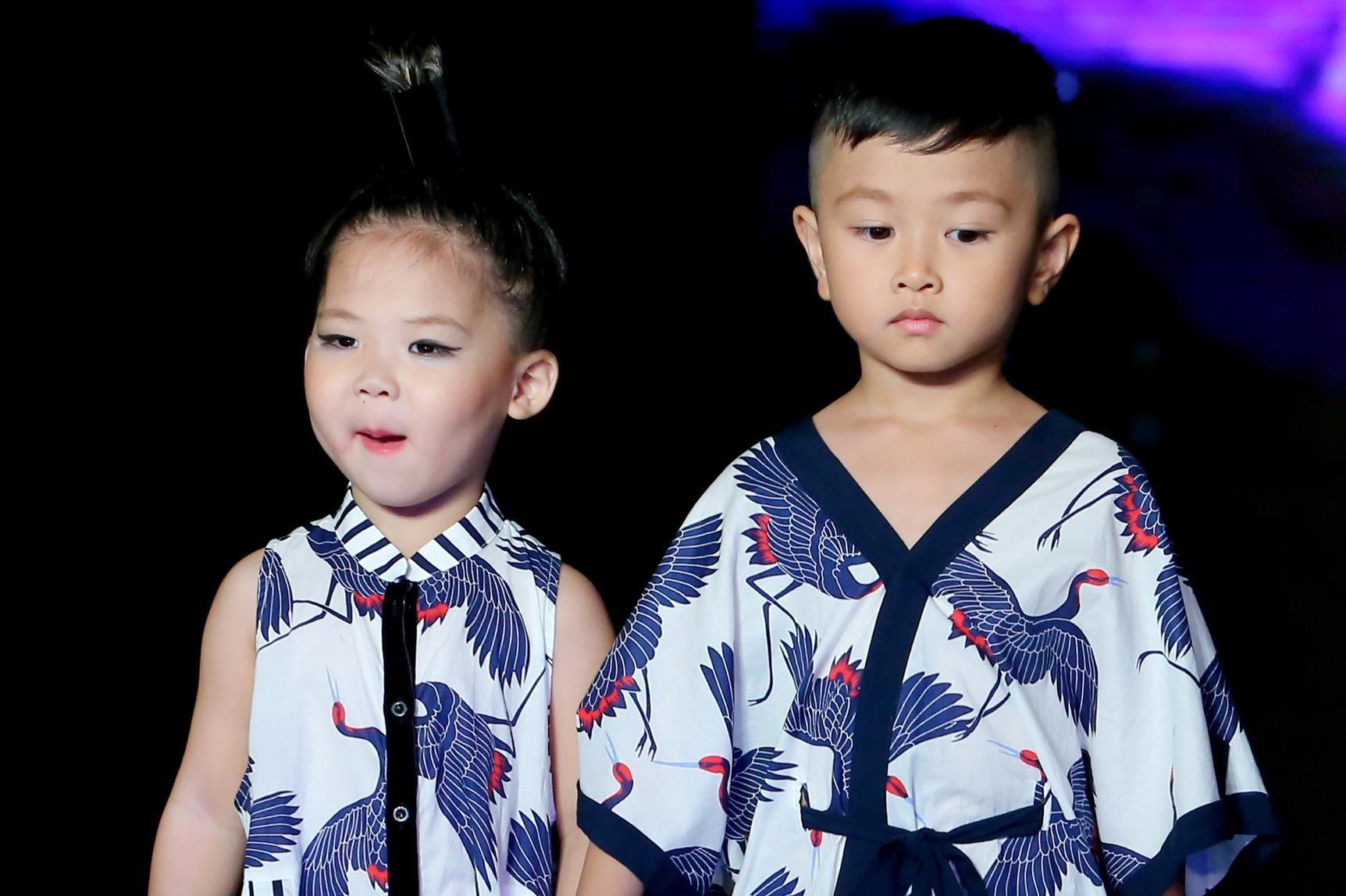 Mẫu nhí đáng yêu với trang phục cảm hứng Nhật Bản