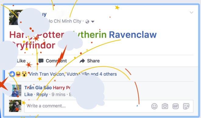 Cách bắn pháo hoa trên Facebook kỷ niệm 20 năm Harry Potter