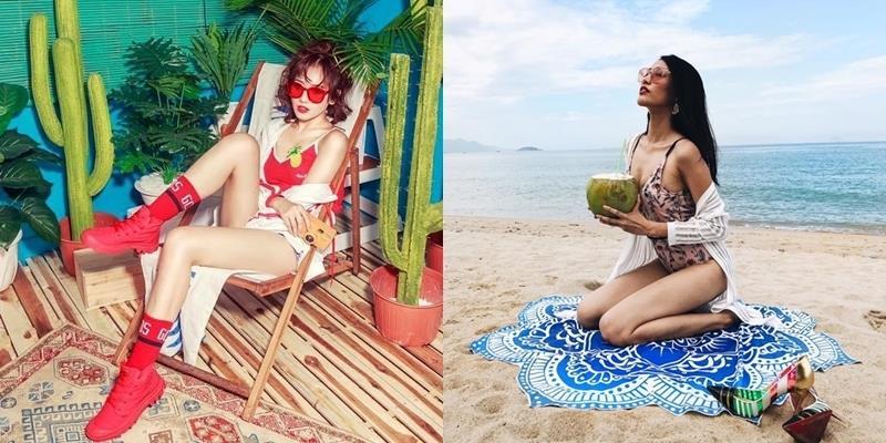 Dàn mỹ nhân Việt cạnh tranh mốt áo tắm 1 mảnh nóng bỏng