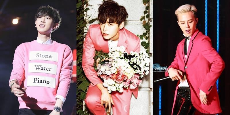 """G Dragon, Lee Jong Suk, Chanyeol là fan cứng của màu """"cẩm hường"""""""