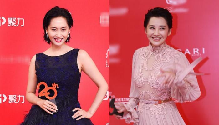 Hai giai nhân phim Kim Dung nổi bật trên thảm đỏ ở tuổi U50