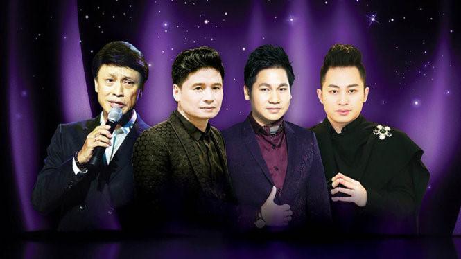 Đêm nhạc hội tụ 4 danh ca Việt