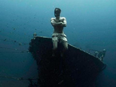 Cảnh ngoạn mục của xác tàu đắm dưới đáy biển Bali