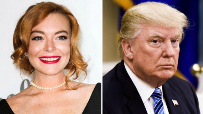 """Lindsay Lohan kêu gọi """"ngưng nói xấu"""" Tổng thống Donald Trump"""
