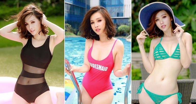 """Người đẹp Thanh Trang khoe đường cong """"nóng bỏng"""" với trang phục bikini bắt mắt"""