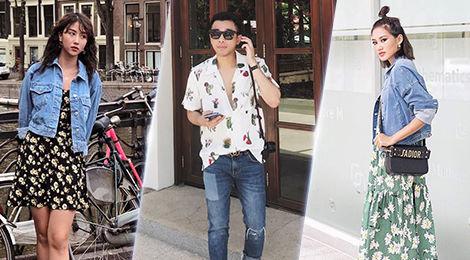 Trang phục họa tiết chiếm lĩnh street style của tín đồ thời trang Việt