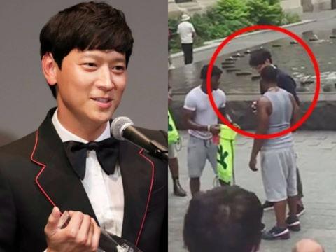 Fan tranh luận clip Kang Dong Won bị xin tiền ở Mỹ