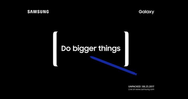 Samsung gửi thư mời sự kiện Unpacked ngày 23/8: Note 8 ra mắt?