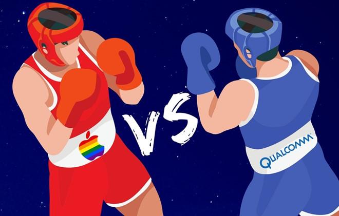 Apple, Qualcomm, Intel hỗn chiến vì lệnh cấm iPhone 8