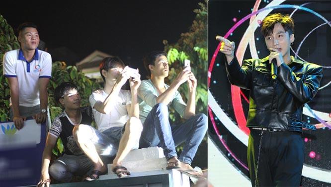 Khán giả trèo tường để xem Sơn Tùng biểu diễn