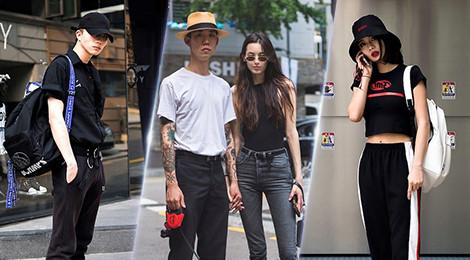 """Trắng đen """"chiếm lĩnh"""" street style của dàn tín đồ thời trang Hàn Quốc"""