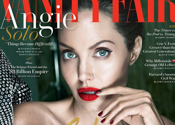 Angelina Jolie mắc chứng liệt cơ mặt