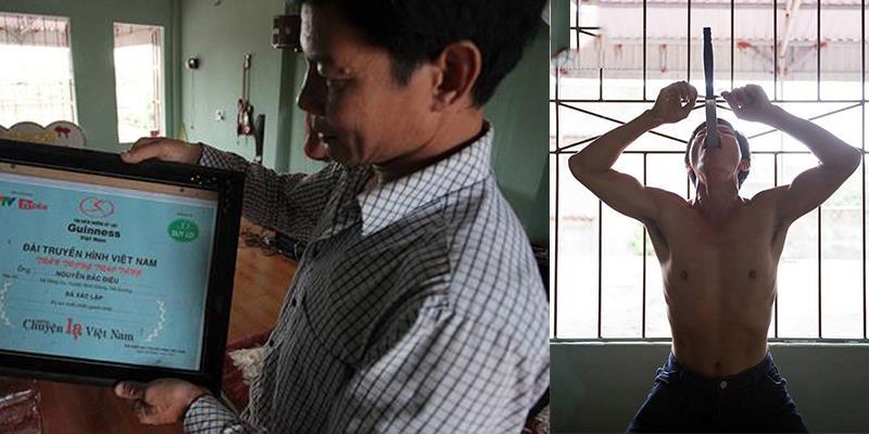 """Gặp """"Dị nhân"""" nuốt trôi một lúc 15 thanh kiếm, đạt kỷ lục Guinness Việt Nam"""