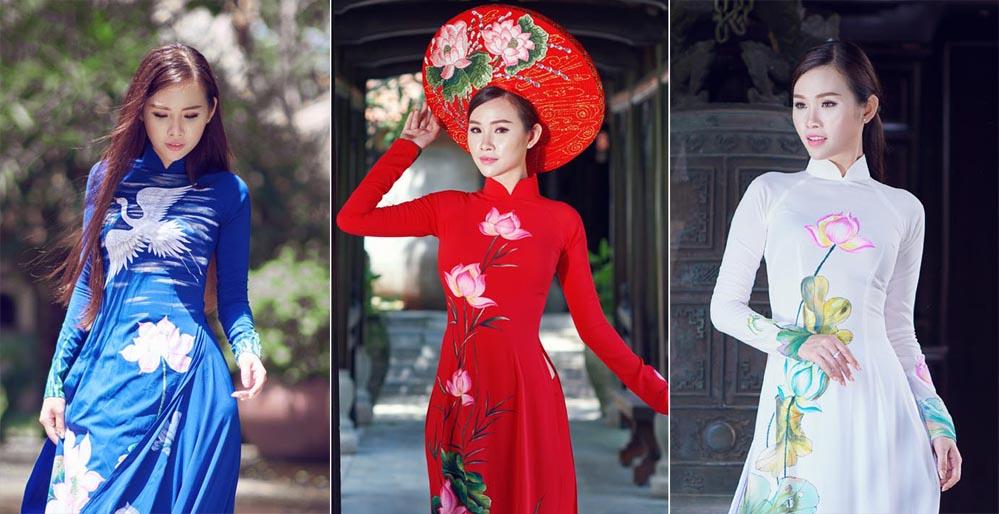 Người đẹp Thanh Trang khoe sắc với áo dài Tommy Nguyễn